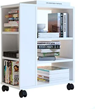 Blanca estantería con Ruedas Desmontable Librero, niños ...