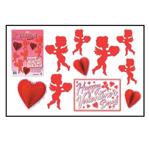 Valentine Decorama Party Accessory (1 count) (10/Pkg) ()