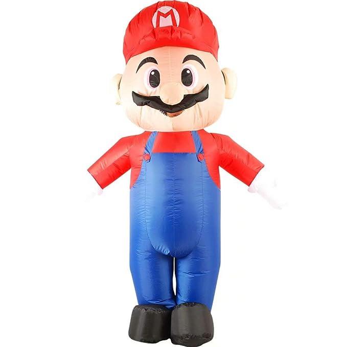 RenKeAi Disfraz Inflable de Super Mario para Adultos Disfraz de ...