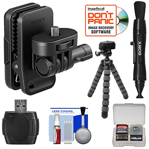 Sony AKA-CAP1 Cap Clip with Flex Tripod + Lens Pen + Reader + Kit for Action Cam HDR-AS20, AS30V, AS50,...