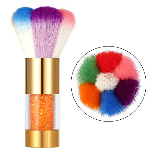 (Anself Nail Art Dust Remover Powder Brush Cleaner For Acrylic & UV Nail Gel)