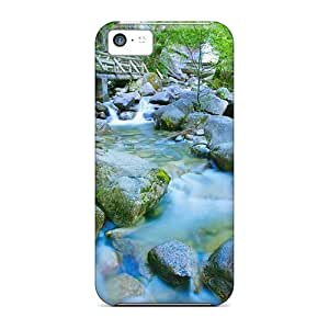 Faddish Phone Bridge Along A Fast Flowing River Case For Iphone 5c / Perfect Case Cover