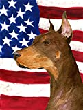 Caroline's Treasures SS4224GF USA American Flag with Doberman Flag, Small, Multicolor Review