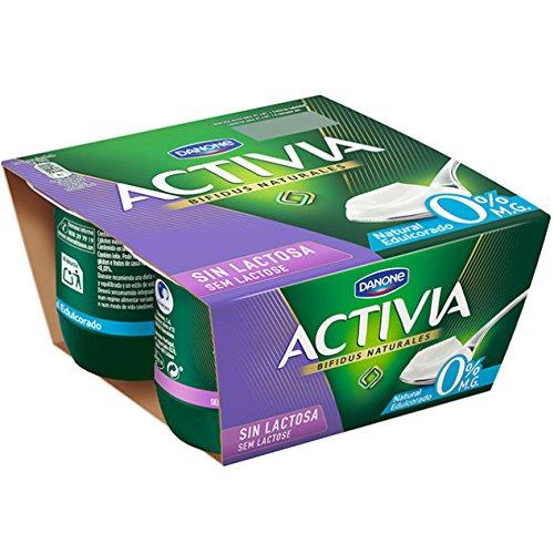 Activia Yogur Natural Edulcorado 0% - Paquete de 4 x 120 gr ...