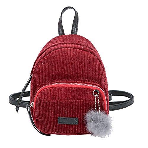 Girl Hairball School Bag Student Backpack Travel Shoulder Bag Feminina Backpack Red