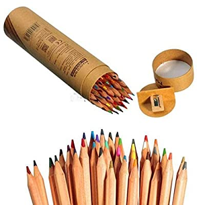 Marco 36 Colors Pastel Pencils Set Drawing Writing Sketching + Sharpener