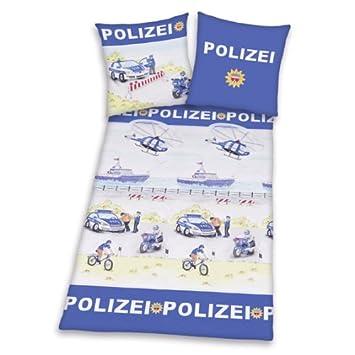 Herding 445103050 Bettwäsche Polizei Kopfkissenbezug 80 X 80 Cm