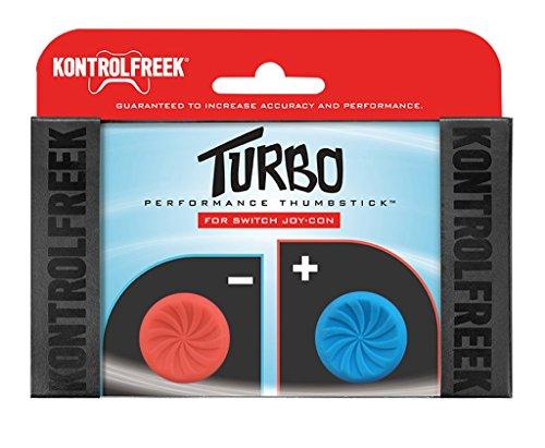 KontrolFreek Turbo Thumb Grips for Nintendo Switch Joy-Con (Red/Blue)