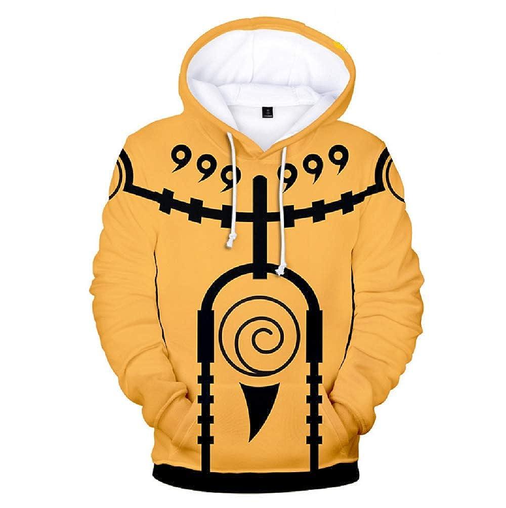 Happy angel Kids Boys Naruto Pullover Hoodie Cotton Sweatshirt 3D Printed Cosplay Fashion Hoodie