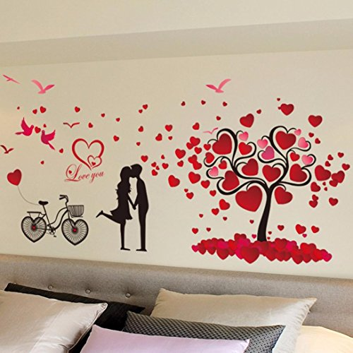 Oksale® Love Tree Wall Stickers, 23.6 X 35.4 Inch, Decorative Home Living Room Bedroom Crafts PVC Removable Applique Papers Mural Decoration (Disney It's Halloween Song Lyrics)
