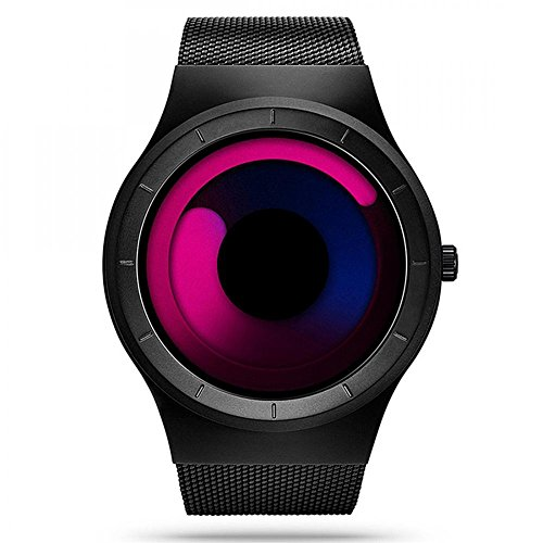 Changing Color Watch (TYF Unisex Sports Watch Creative Mesh Watches Unique Luminous Waterproof Dress Wrist Watch Color Changing Dial)