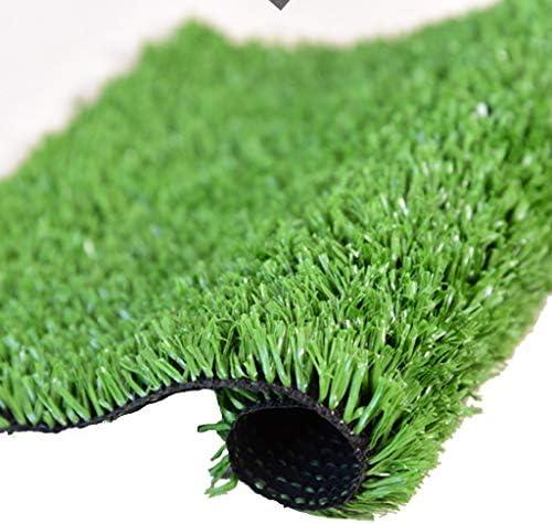 CarPET Kunstrasen im Freien, Florhöhe 15 mm, verschlüsselter grüner Gartenimitat-Rasenteppich, geeignet für den Innenhof des Balkonkindergartens YNFNGXU (Size : 2x0.5m)