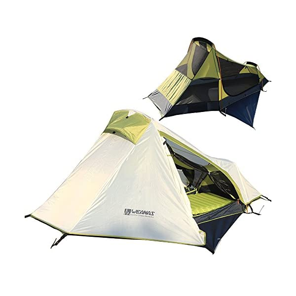 Weanas-Mountaineering-Adventure-1-Person-Single-Bivy-Backpacking-Tent-Extra-Size-Lightweight-Portable-with-Gear-Storage-Footprint