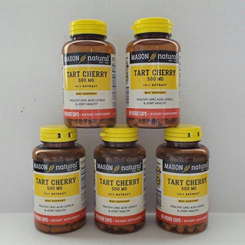 Mason Natural Advanced Tart Cherry 10:1 Extract Veggie Caps - 90 ct, Pack of 5