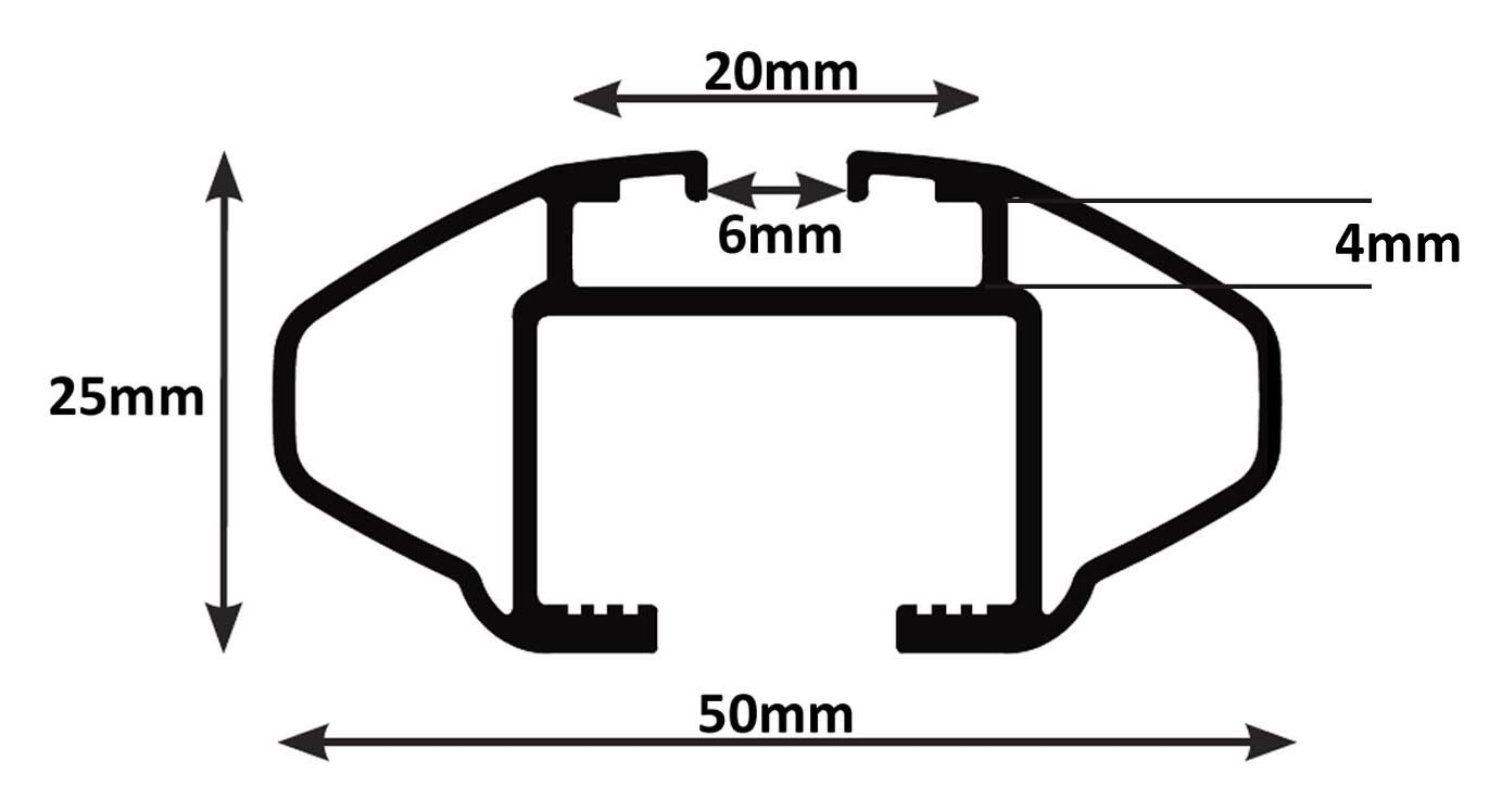 Mercedes GLC 5/door from 2015,/90 kg CRV107A VDP aluminium roof rack lockable