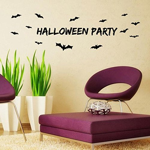 JHKUNO Wall Décor Stickers, Halloween Letters Wall Sticker Window Home Decoration Decal Decor -
