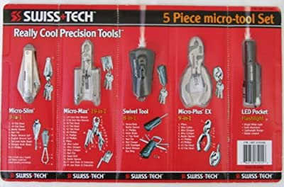Swiss-Tech 5 Pieces Micro-Tool Set With 46 Functions In Total