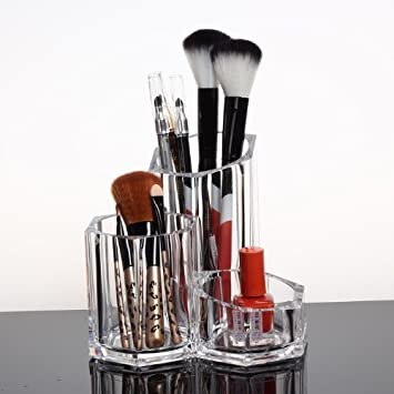 acrylic makeup brush holder. easybuystore ®acrylic cosmetic and makeup brush holder pencil cup - organizer acrylic
