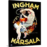 Canvas on Demand Premium Thick-Wrap Canvas Wall Art Print entitled Ingham Marsala Wine Vintage Advertising Poster 30''x40''