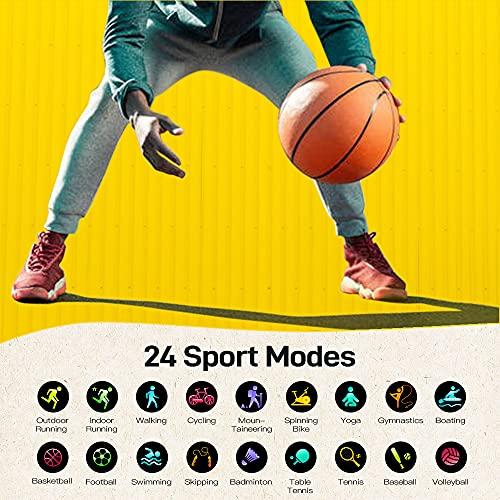 Donerton Smartwatch Donna Uomo, Orologio Fitness 1.3 Pollici con Impermeabile IP68, Cardiofrequenzimetro, Monitor del Sonno, Contapassi,Cronometro, 24 Modalità Sportive Fitness Tracker per Android iOS