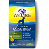Wellness Complete Health Natural Dry Large Breed Dog Food, Chicken & Rice, 15-Pound Bag