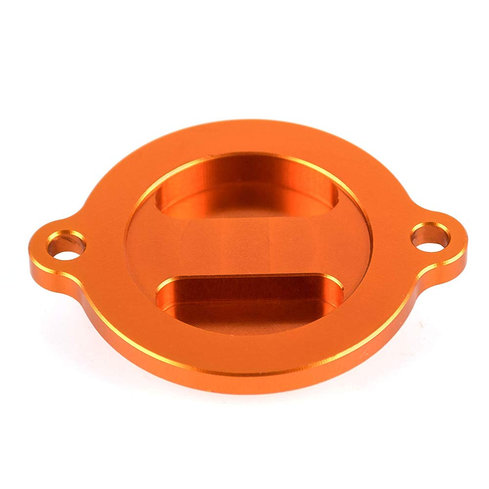 Motorcycle Accessories CNC Orange Engine Oil Filter Cover Cap For KTM DUKE 390 (13-15), DUKE 125/200, RC 390 2014-2015, RC 125/200 Nawenson