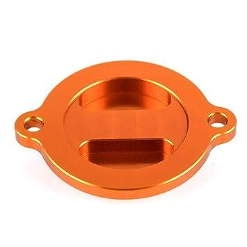 nawenson Newest motocicleta accesorios CNC naranja tapa de motor Filtro de aceite para KTM Duke 125/200/390: Amazon.es: Coche y moto