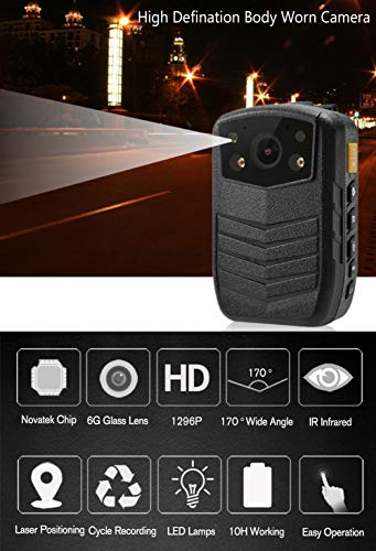 Meknic Q3 2K High Definition Portable Security Guards 64G Body Camera, Police Body Worn Mounted Camera Good Night Vision with 2'' Display for Law Enforcement, Police Officers,Security Companies (64GB) by MEKNIC (Image #2)