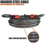BV 4FT Security Steel Cable, Double Looped Flex