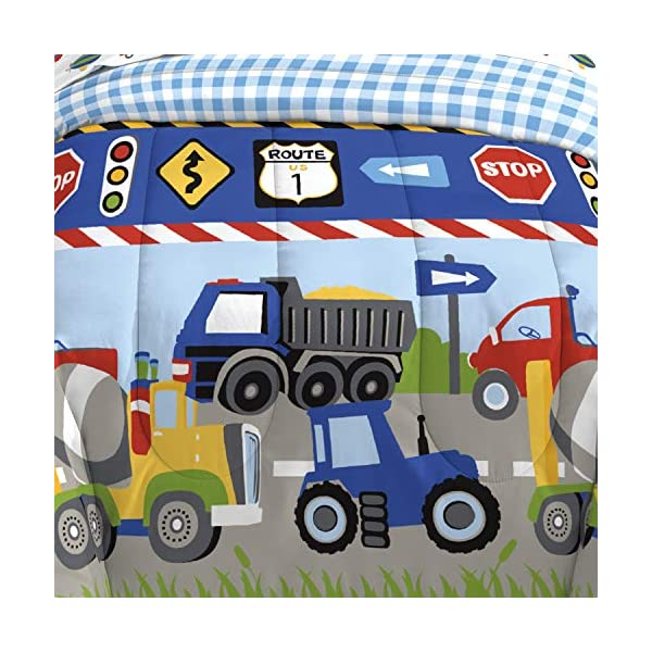 CHF Trains and Trucks Twin Mini Bed in a Bag 5