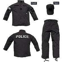 TC Kids Trooper Clothing 3 pc Black Tactical Police Costume Uniform Ripstop