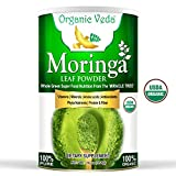 Organic Veda - Organic Moringa Leaf Powder - USDA Certified