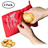 4 Pack Microwave Potato Cooker Bag Microwave Baking Bag Potato Pouch Cooker Washable and Reusable Perfect Potatoes Just in 4 Minutes