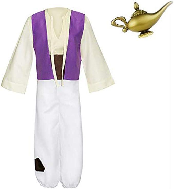 Godmoy Disfraz de Aladdin para Hombre con lámpara Aladdin Magic ...