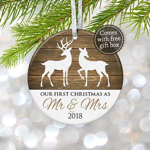 Christmas Ornament Wedding Gift: Amazon.com: Our First Christmas As Mr & Mrs Ornament 2018