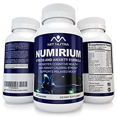 Stress Anxiety Relief Supplement | Works For Women And Men | Natural Calm | Best Herbal Product| Permanent Reducer Numirium By MIT NTURA