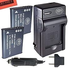 BM Premium 2-Pack OF LI-50B, LI50B, LI-50, LI50 Batteries & Battery Charger for Olympus Stylus SH-25MR, SP-720UZ, SP-800UZ, SP-810UZ, SZ-10, SZ-12, SZ-15, SZ-16 iHS, SZ-20, SZ-30MR, SZ31MR iHS, TG-610, TG-630 HIS, TG-810, TG-820, TG-830 HIS, TG-850, TG-850 IHS, TG-860, TG-870, VG-190, XZ-1, XZ-16 iHS Digital Camera