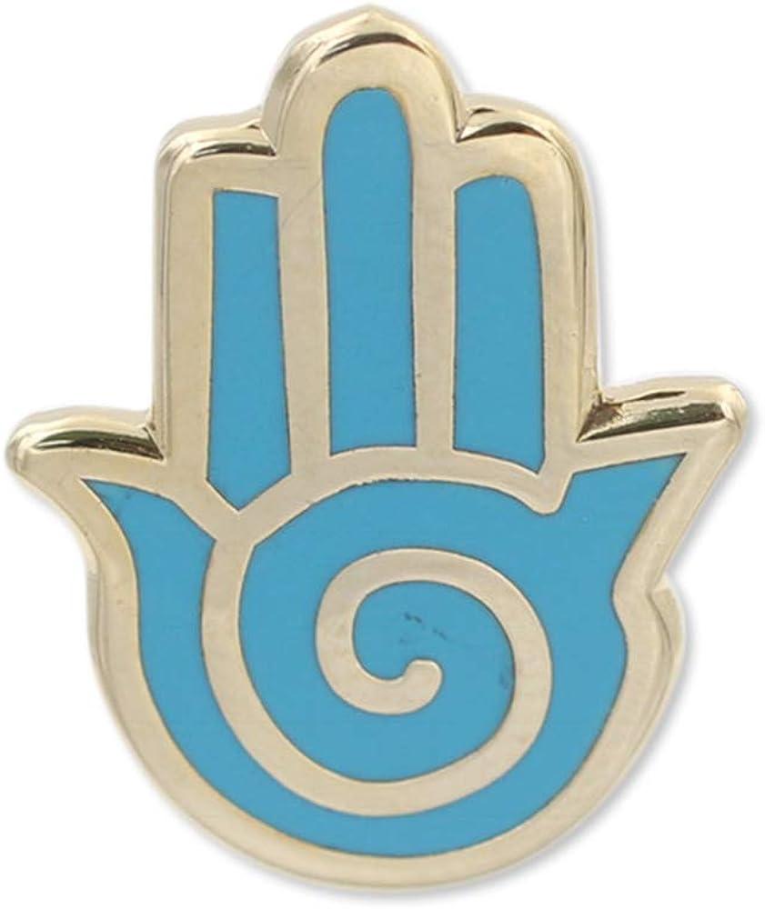 WIZARDPINS Hand of Goddess Lucky Hamsa Symbol Hard Enamel Lapel Pin