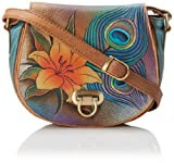Anuschka 511 Cross Body,Peacock Lily,One Size, Bags Central