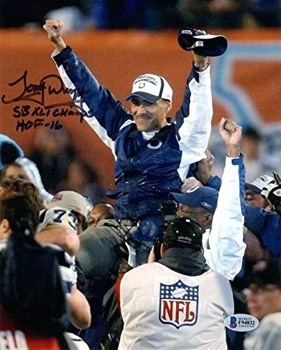 (Tony Dungy Autographed Signed Memorabilia 8x10 Photo Sb Xli Champs HOF 16 Colts Beckett Bas)