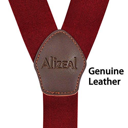Alizeal e bordeaux bretelle Paisley Papillon per cravatta di uomo zwFwvpBx