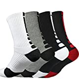 "Best Tennis Socks - 4 Pack Men's Dri-Fit 9.5"" Height Cushioned Compression Review"