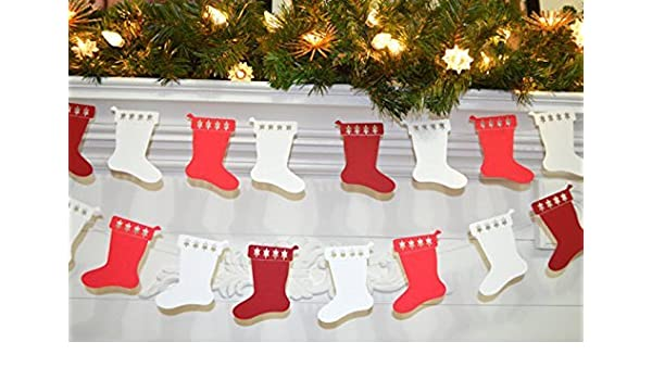 Amazon Com Christmas Stocking Garland Paper Stocking Decor Kids