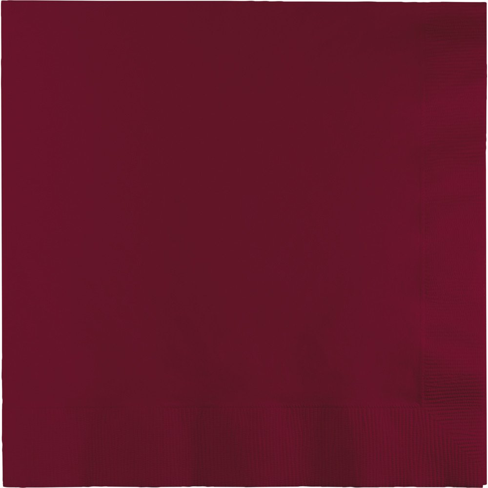 250-Count Touch of Color 3-Ply Paper Dinner Napkins, Burgundy by Creative Converting