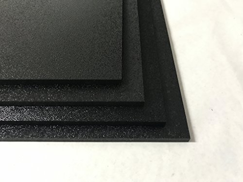 ABS Black Plastic Sheet 1/16