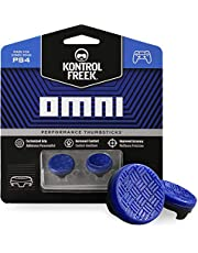 KontrolFreek Omni for PlayStation 4 (PS4) and PlayStation 5 (PS5)   Performance Thumbsticks   2 Low-Rise Concave   Blue