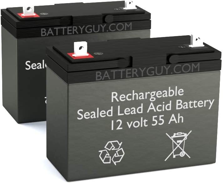 12V 55AH Replacement for Jazzy 600 ES Replacement Battery Pack Rechargeable BatteryGuy Battery BG-12550NB