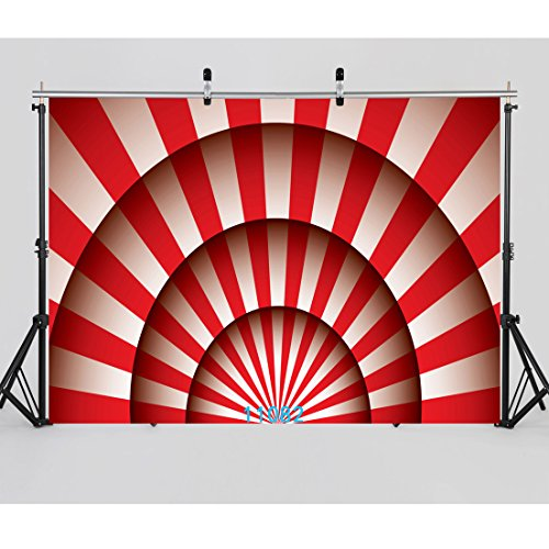 SJOLOON 7X5ft Circus Carnival Party Vinyl Photography Backdrop for Baby Kids Birthday Decoration Customized Photo Background Photo Studio Prop 11082 -