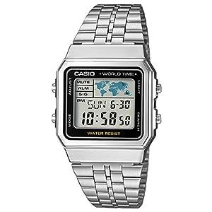 Casio Reloj Digital para Hombre de Cuarzo con Correa en Acero Inoxidable A500WEA-1EF