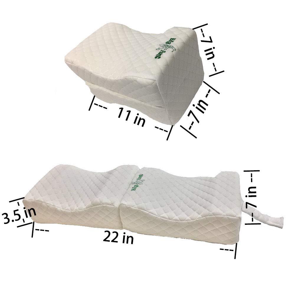 alla schiena e al ginocchio Big Ant leg pillow memory foam cuscino gambe Cuscino per il ginocchio Dolore alla gamba cuscino per gambe in con copertura lavabile cuscino per le gambe